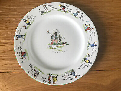 Vintage Baby Plate  Nursery Rhymes MF Pottery China • 9.99£