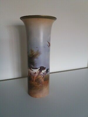 Crown Devon Vase With English Setters By R Hinton • 99£
