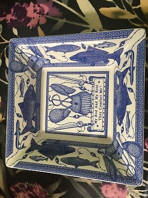 Spode The Blue Room Rod & Reel Dish • 25£