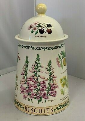 UNUSED Dunoon Nature Trail Pattern Tall Stoneware Biscuit Barrel • 19.99£