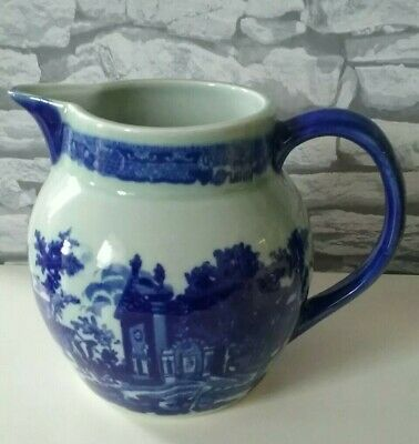 Victoria Ware Ironstone Vintage Large Pitch Jug Blue And White • 15£