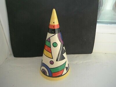 CLARICE CLIFF   LIGHTNING   SUGAR SHAKER  By MOORLAND POTTERY • 30£