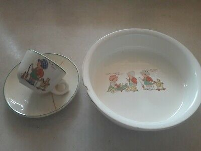 Vintage Nursery Your Licence Please/Playtime Pals 3 Piece Part Teaset • 6.50£