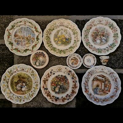 Brambly Hedge Plates Candlelight Supper Engagement Seasons + Box +Mini Cup Trio • 89.99£