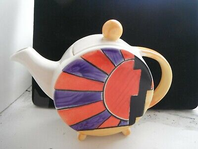 CLARICE CLIFF STYLE   SUN RAY   TEAPOT  By PAST TIMES  • 9.99£