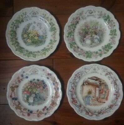 Royal Doulton ~ Brambly Hedge ~ Four Seasons Plates ~ 8  ~ 4 Plates Full Set • 30£
