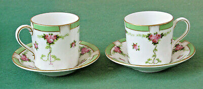 Two Dainty George Jones Crescent China Coffee Cans • 18£