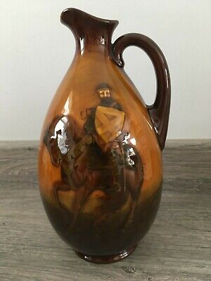 Doulton Kingsware Whisky Jug - The Crusader - Greenlees Bros Claymores Scotch • 140£
