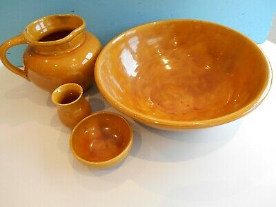 Huge C H Brannam Jug And Bowl Washing Set Thomas Liverton 1911. • 90£