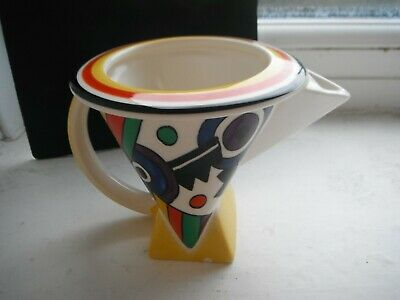 CLARICE CLIFF   LIGHTNING   MILK JUG  By MOORLAND POTTERY • 24£