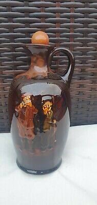 Royal Doulton Kingsware Whisky Decanter Gillie And Fisherman • 75£