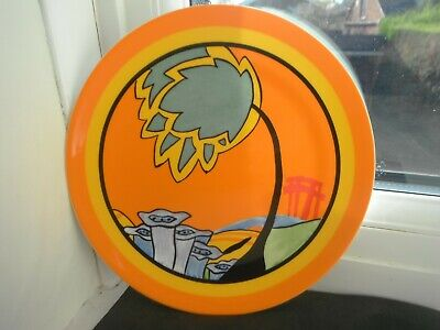 CLARICE CLIFF   MONSOON  PLATE- By WEDGWOOD - LTD EDITION • 14.90£