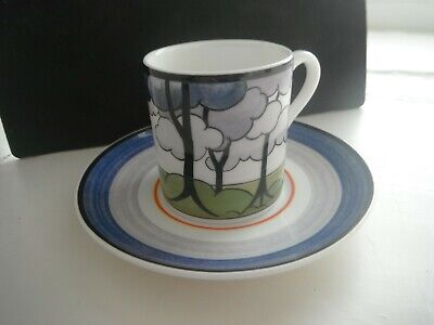 CLARICE CLIFF  BLUE FIRS   Cafe Chic DUO ' By WEDGWOOD -  MINT • 20£