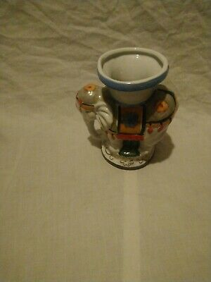 Vintage Colourful Elephant Shaped Vase/pot/ornament. • 7£