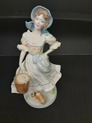 """Royal Worcester  Old Country Ways  Limited Edition Figurine """"The Milkmaid"""" • 6.80£"""