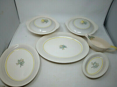 Grays Pottery A8629 Lily Of Valley Pattern Part Dinner Serving Set Casseroles • 36£