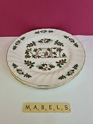 FINE ENGLISH TABLEWARE ~NOEL CHRISTMAS~ Dinner Plates X 4 • 22.99£