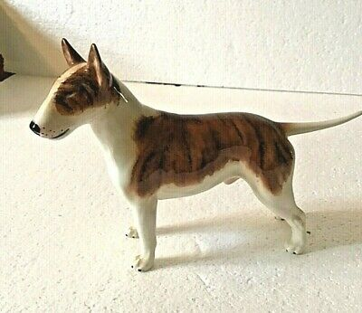Beswick English Bull Terrier, Brindle And White • 90£