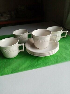 Bhs Lincoln Barratts Cups & Saucers X 4.  • 15£