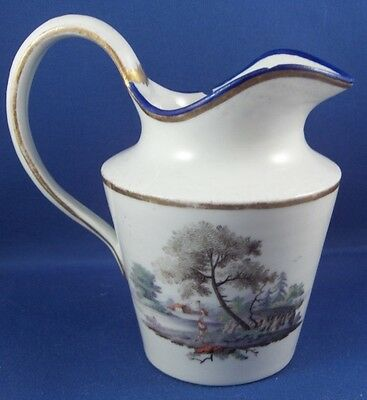 Antique 18thC Porcelain Scenic Creamer Pitcher Porzellan Kanne Krug Scene German • 172.84£