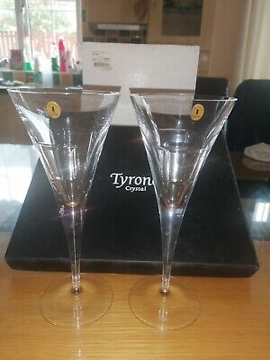 "Tyrone Crystal ""CUBIS"" Wine Glasses  • 49.99£"