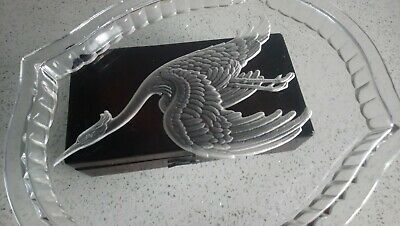 Large Art Deco Josef Inwald Leroc Intaglio Flying Crane Vanity Table Tray • 23.50£