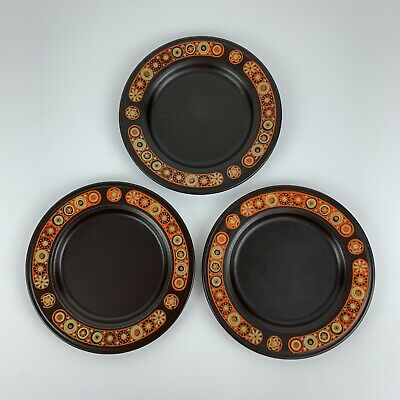Vintage Kiln Craft Hermes Side Tea Plates Staffordshire Pottery 17cm 6.5  X3 Set • 14.99£