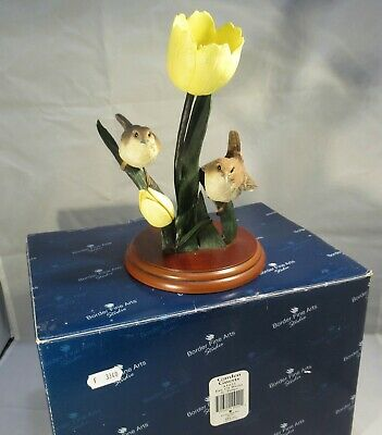 Border Fine Arts Garden Guests Pair Of Wrens On Tulips Model Number A1022 Boxed • 22.49£