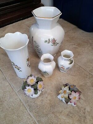 Ainsley Pottery Various Cottage Garden, Wild Tudor, China Flowers In Baskets • 5£