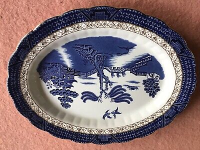 Booths Real Old Willow A8025 Large Oval Serving Platter Meat Plate Tray 35cm  • 12£