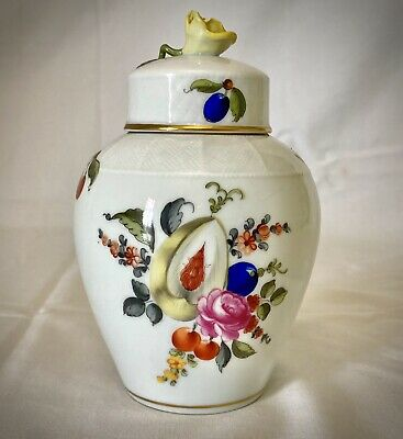 Herend Hungary Porcelain, Beautifully Hand Painted Trinket/ Vase Floral Fruit • 74.99£