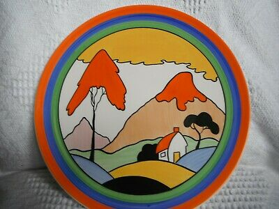 Clarice Cliff C.c.  Fantasque Mountain  Plate -  - Ltd Edition - Only 200 Made • 75£