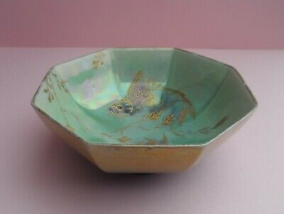 A Shelley Walter Slater   New Fish Lustre  8306 Octagonal Shaped Bowl. C.1918. • 120£