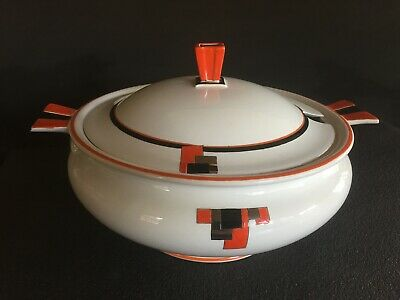 Amazing Art Deco 1930s 1940s Shelley Terrine Tureen Serving Dish With Lid • 15£
