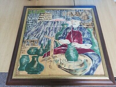Rare Cobridge Stoneware The Potter  Large Framed 9 Tile Fantastic Piece • 999.99£