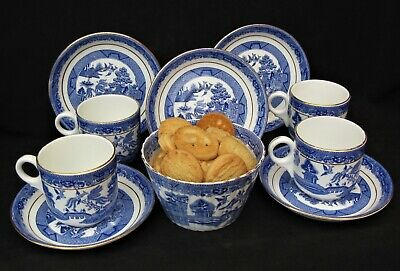 Sutherland  WILLOW PATTERN  1940's Part Tea Set Very Good Condition. • 14.50£