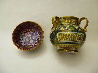 Cantagalli Pottery Lustre Pottery 2 Items 10 % To RSPCA • 45£
