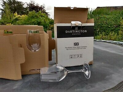 Pair Dartington Lead Free Crystal Wine Glasses New, Boxed  +Champagne, Prosecco • 6£