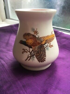 Axe Vale Pottery Small Vase Pheasent Design • 4.99£