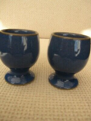 Denby IMPERIAL BLUE 2 Egg Cups Good Condition No Chips Or Scratches  • 9.50£