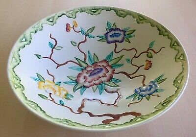 Vintage H J Wood Chinese Rose Bowl Large 28cm Art Deco Collectable China • 15.99£