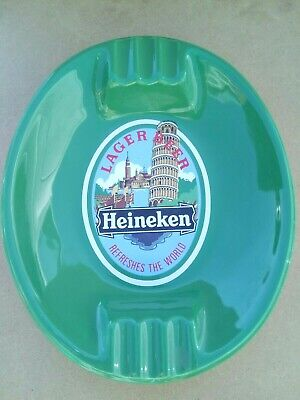 Vintage Heineken Lager Beer Pub Bar Home Collectors Smoking Home Ash Tray Gift * • 29.99£