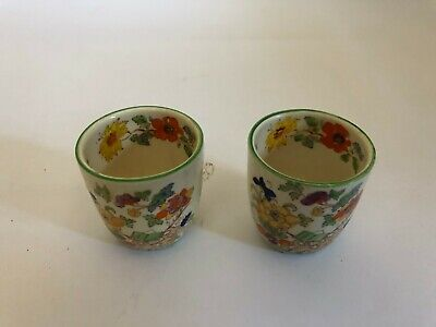 A Pair Of Masons Bible Pattern Egg Cups • 15£