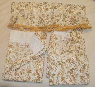 M&S Marks And Spencer St Michael Harvest Curtains & Pelmet 66  X 40  • 24.99£