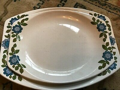 60s 70s Retro Vintage Kitsch J&G Meakin Topic Lge Meat Platter & Serving Plate • 9£