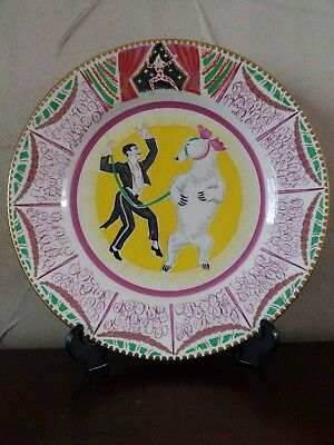Art Deco Clarice Cliff Circus Plate Designed By Dame Laura Knight First Edition • 595£