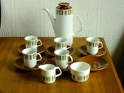 Vintage J&g Meakin Studio Coffee Set 15 Pieces • 19£
