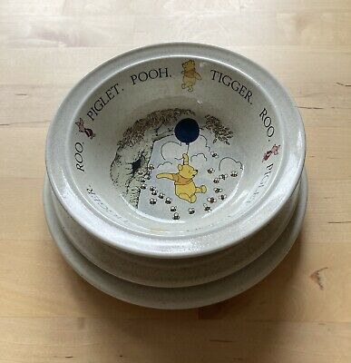 Vintage Royal Doulton Winnie The Pooh Bowl Saucer & Plate Set - Breakfast Set • 15£