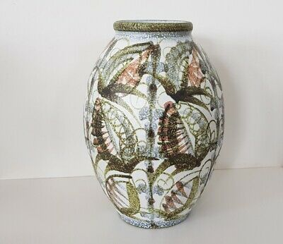 Large Abstract Denby Vase By Glyn Colledge - 31 Cm • 80£