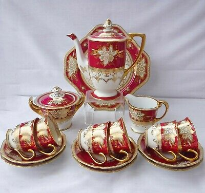 Noritake 1930's Gilded Coffee Set, Perfect Condition • 275£